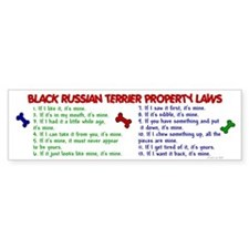 Black Russian Terrier Property Laws 2 Bumper Sticker
