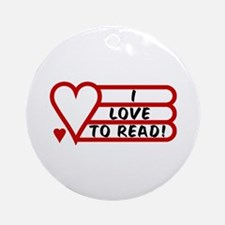 Love to Read Ornament (Round)