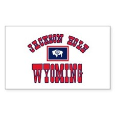 Jackson Hole WY Rectangle Decal
