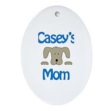 Casey's Mom Oval Ornament