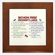 Bichon Frise Property Laws 2 Framed Tile