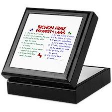 Bichon Frise Property Laws 2 Keepsake Box