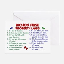 Bichon Frise Property Laws 2 Greeting Card