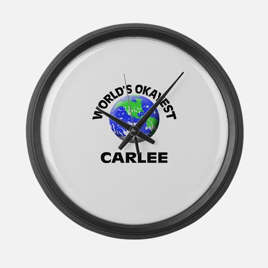 World's Okayest Carlee Large Wall Clock