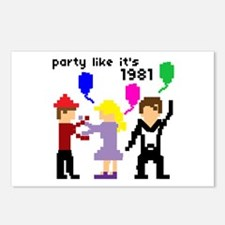 party like it's 1981 - Postcards (Package of 8)