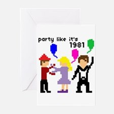 party like it's 1981 - Greeting Cards (Package of