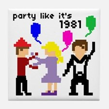 party like it's 1981 - Tile Coaster