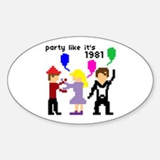 party like it's 1981 - Oval Decal