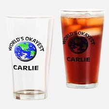 World's Okayest Carlie Drinking Glass