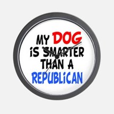 Dog Smarter Republican Wall Clock