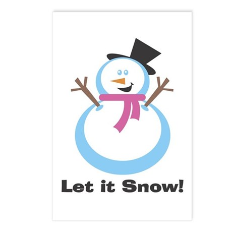 Let it Snowman Postcards (Package of 8)