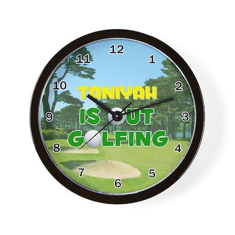 Taniyah is Out Golfing - Wall Clock