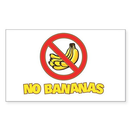 NO BANANAS Rectangle Sticker