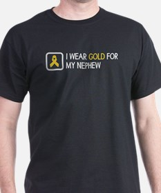 Childhood Cancer: Gold For My Nephew T-Shirt