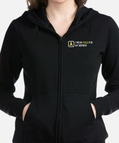 Childhood Cancer: Gold For My N Women's Zip Hoodie