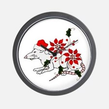 Christmas Rat Wall Clock