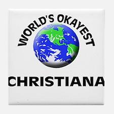 World's Okayest Christiana Tile Coaster