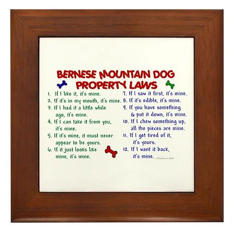 Bernese Mountain Dog Property Laws 2 Framed Tile