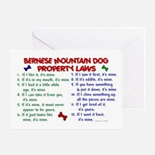 Bernese Mountain Dog Property Laws 2 Greeting Card