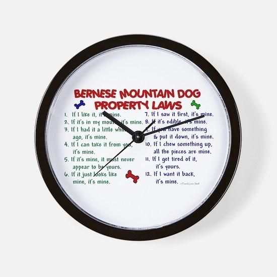 Bernese Mountain Dog Property Laws 2 Wall Clock