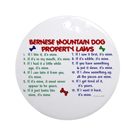 Bernese Mountain Dog Property Laws 2 Ornament (Rou