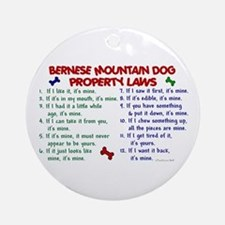 Bernese Mountain Dog Property Laws 2 Ornament (Rou