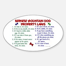 Bernese Mountain Dog Property Laws 2 Decal