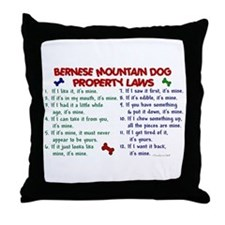 Bernese Mountain Dog Property Laws 2 Throw Pillow
