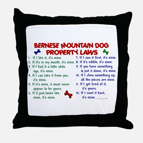 Bernese Mountain Dog Property Laws 2 Throw Pillow