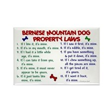 Bernese Mountain Dog Property Laws 2 Rectangle Mag