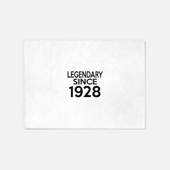 Legendary Since 1928 5'x7'Area Rug