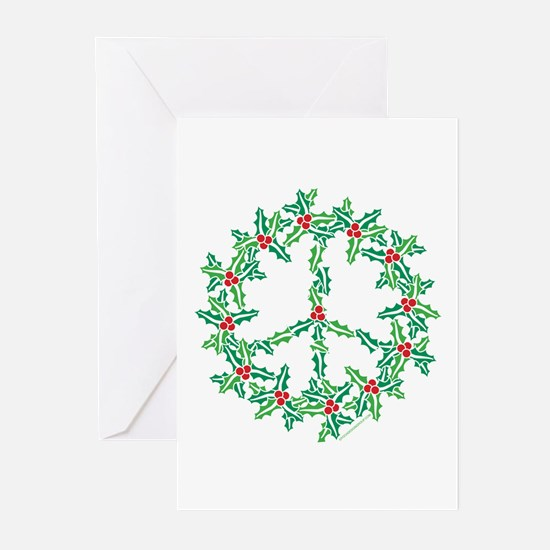 Cool Peace sign christmas Greeting Cards (Pk of 20)