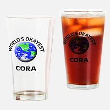 World's Okayest Cora Drinking Glass
