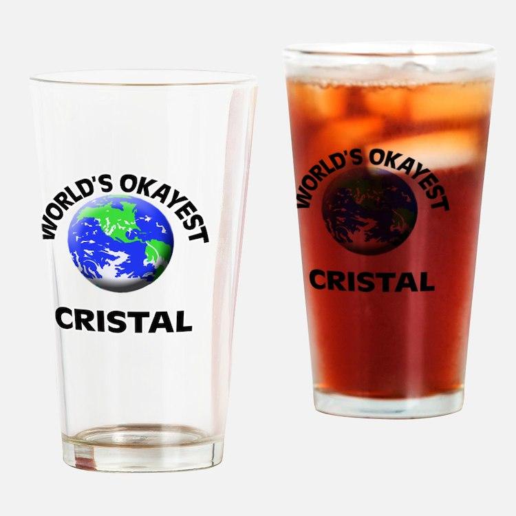 World's Okayest Cristal Drinking Glass