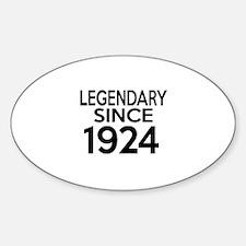 Legendary Since 1924 Decal