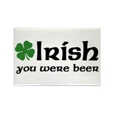 Irish you were Beer Rectangle Magnet (10 pack)