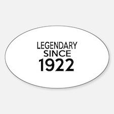 Legendary Since 1922 Decal