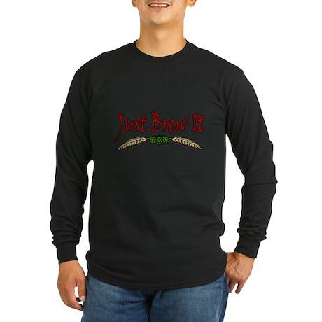Just Brew It Long Sleeve Dark T-Shirt