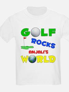 Golf Rocks Anjali's World - T-Shirt