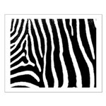 Helaine's Zebra Pattern Small Poster
