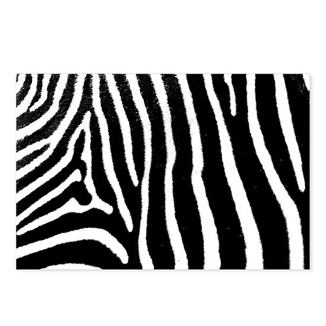 Helaine's Zebra Pattern Postcards (Package of 8)