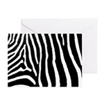 Helaine's Zebra Pattern Greeting Cards (Pk of 20)