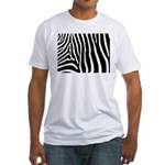 Helaine's Zebra Pattern Fitted T-Shirt