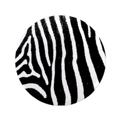 "Helaine's Zebra Pattern 3.5"" Button (100 pack)"