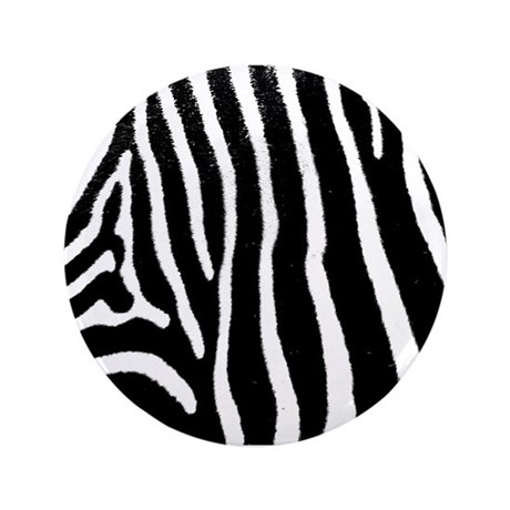 "Helaine's Zebra Pattern 3.5"" Button"