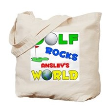 Golf Rocks Ansley's World - Tote Bag