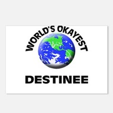 World's Okayest Destinee Postcards (Package of 8)