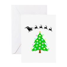 Santa's Ride Greeting Card