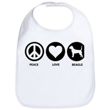 Peace Love Beagle Bib
