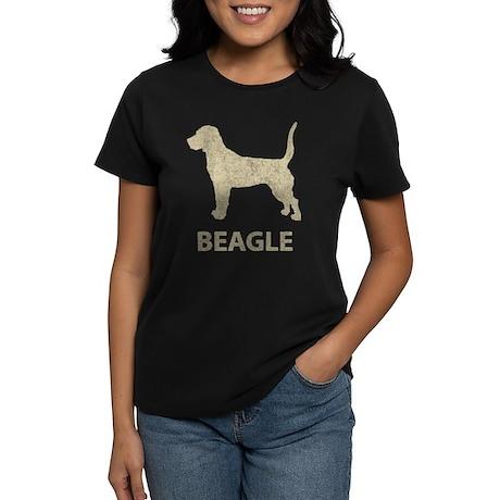 Vintage Beagle Women's Dark T-Shirt
